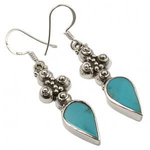 Wholesale Price American Turquoise Gemstone 925 Silver Earrings