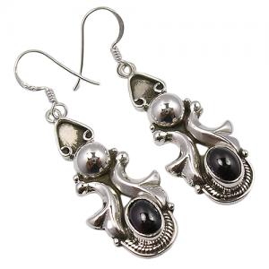 Light Weight Black Onyx Handmade 925 Sterling Silver Earrings