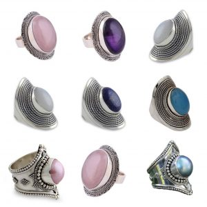 Wholesale 925 Sterling Silver Rings Mix Lot 100 Grams