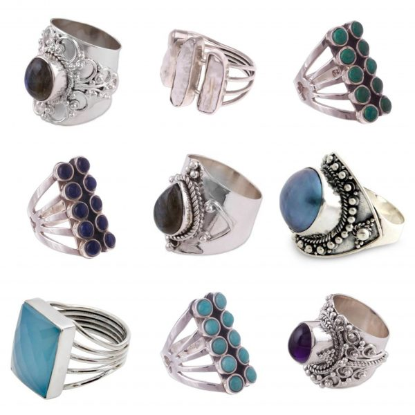 Wholesale 925 Sterling Silver Rings Mix Lot 100 Grams WHR3