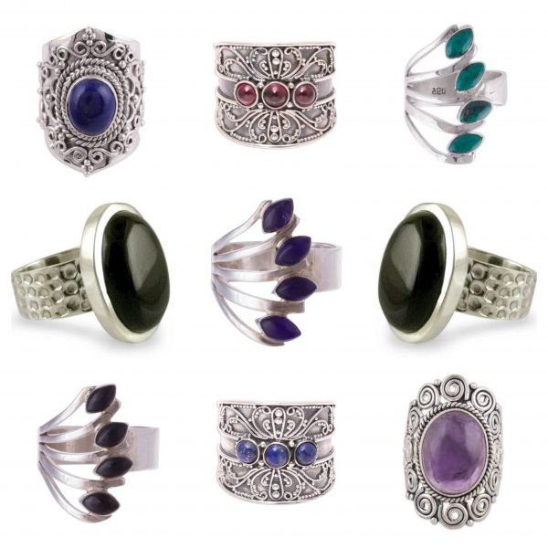 Wholesale 925 Sterling Silver Rings Mix Lot 100 Grams WHR4