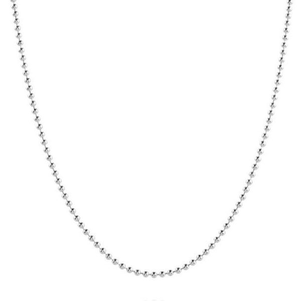 Wholesale Sterling Silver 925 Diamond Cut 1mm Bead Chain 18""