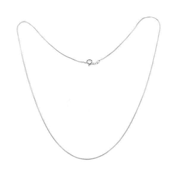 """925 Sterling Silver 1mm Italian Snake Chain 16"""", 18"""" Sizes"""
