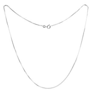 "925 Sterling Silver Uni sexual 1.2mm Box Chain 18"" Size"