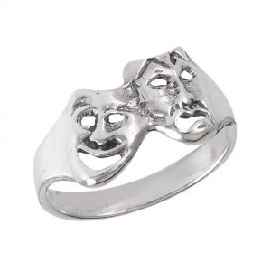 Sterling Silver Comedy Tragedy Ring PSR22