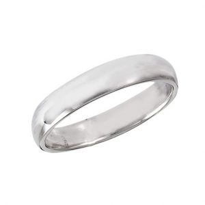 925 Sterling Silver 3 mm High Polish Wedding Band PSR44