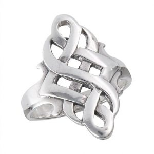 925 Sterling Silver Celtic Endless Knot Ring PSR6