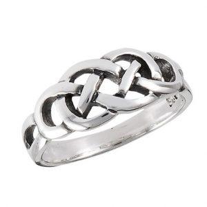 Sterling Silver Celtic Endless Knot Ring PSR8