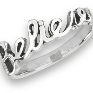 925 Sterling Silver Believe Ring PSR53