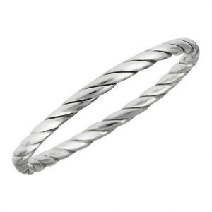 925 Sterling Silver Simple Twist Ring PSR49