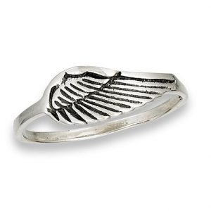 925 Sterling Silver Wing Ring PSR54