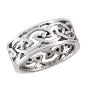 Sterling Silver Heavy Celtic Weave Ring PSR3