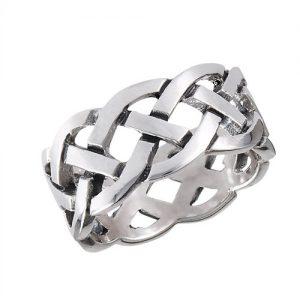 925 Sterling Silver Celtic Heavy Weave Ring PSR1