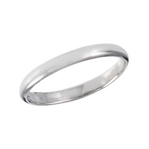 925 Sterling Silver 2 mm High Polish Wedding Band PSR43