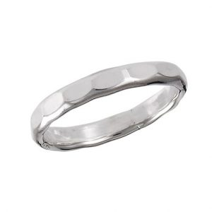 925 Sterling Silver Hammered Ring PSR45