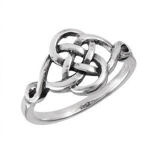 Sterling Silver Interwoven Celtic Ring PSR11