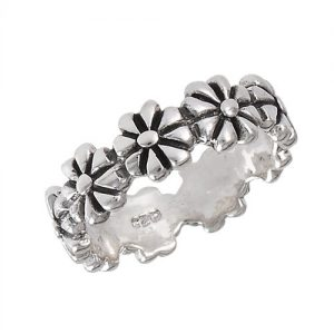 Sterling Silver All Around Flower Ring PSR15