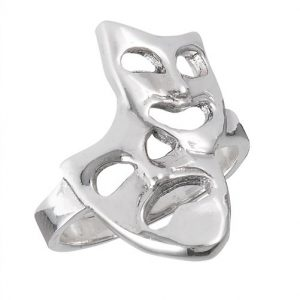 Sterling Silver Comedy Tragedy Ring PSR21