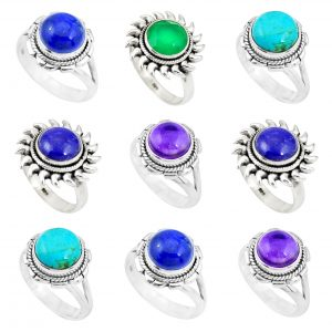 Multi-Gemstone Rings - 100 Grams Wholesale Rings Bulk Lot WHR14