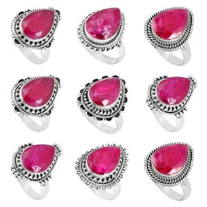 Ruby Handmade 100 Grams Wholesale Rings Bulk Lot WHR16