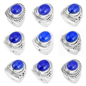 Lapis Lazuli Handmade 100 Grams Wholesale Rings Bulk Lot WHR17