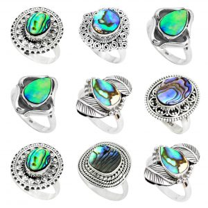 Abalone Paua Shell Handmade 100 Grams Wholesale Rings WHR20