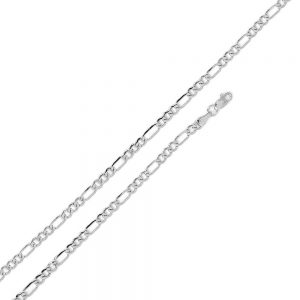 Wholesale Sterling Silver 925 High Polished Figaro Mens Chain 2mm, 4mm