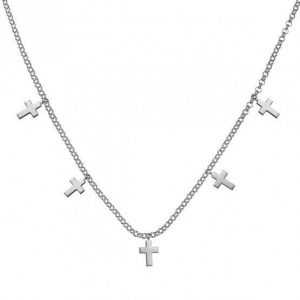 925 Sterling Silver Choker with Crosses SPN1