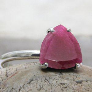 Red Ruby Cut Gemstone 925 Sterling Silver Ring CutR4