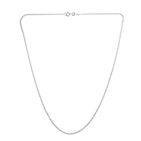 "925 Sterling Silver 1MM 18"" Italian Silver Rope Chain"