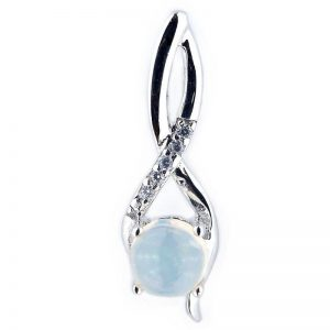 NATURAL CAB ROUND OPAL 925 SILVER CASTING PENDANT