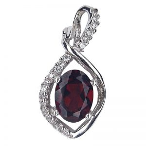 NATURAL DARK RED GARNET 925 SILVER CASTING PENDANT