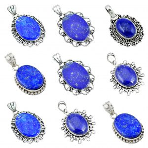 Lapis Wholesale 925 Silver Jewelry 100 Gram Pendant Lot WHP15