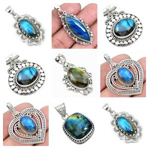 Labradorite Wholesale 925 Silver Jewelry 100 Gram Pendant Lot WHP19