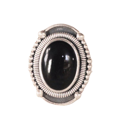 Gypsy Black Onyx 925 Silver Handcrafted Ring CABR37