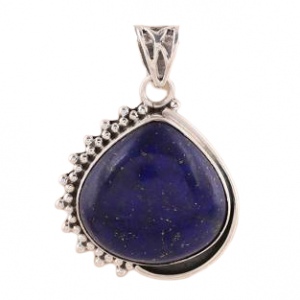 925 Sterling Silver Blue Lapis Lazuli Daydream Pendant CAB106