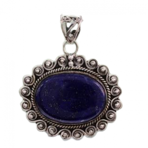 India Lapis Lazuli Necklace Artisan Crafted with 925 Silver Jewelry Cab116