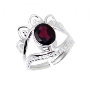 Vintage Look Amethyst Cab Designer 925 Silver Jewelry Ring CABR16