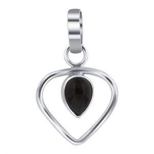 Cute Mini Black Onyx 925 Silver Pendant Jewelry CABP129