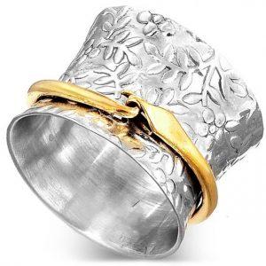 Meditation Spinner 925 Sterling Silver Ring