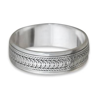 925 Sterling Silver Infinity Band Spinner Ring MR2