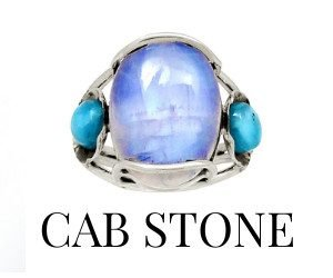 Cab Stone Rings