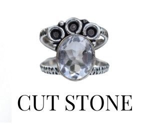 Cut Stone Rings