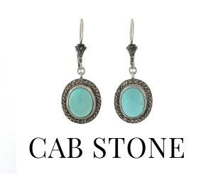 Cabochon Stone Earrings