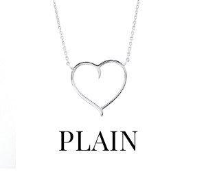 Plain Silver Pendants & Necklaces