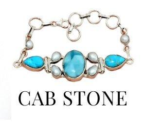 Cab Stone Bracelets