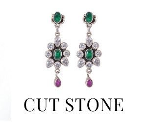 Cut Stone Earrings