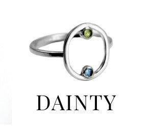 Delicate Dainty Rings
