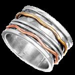 spinner silver ring