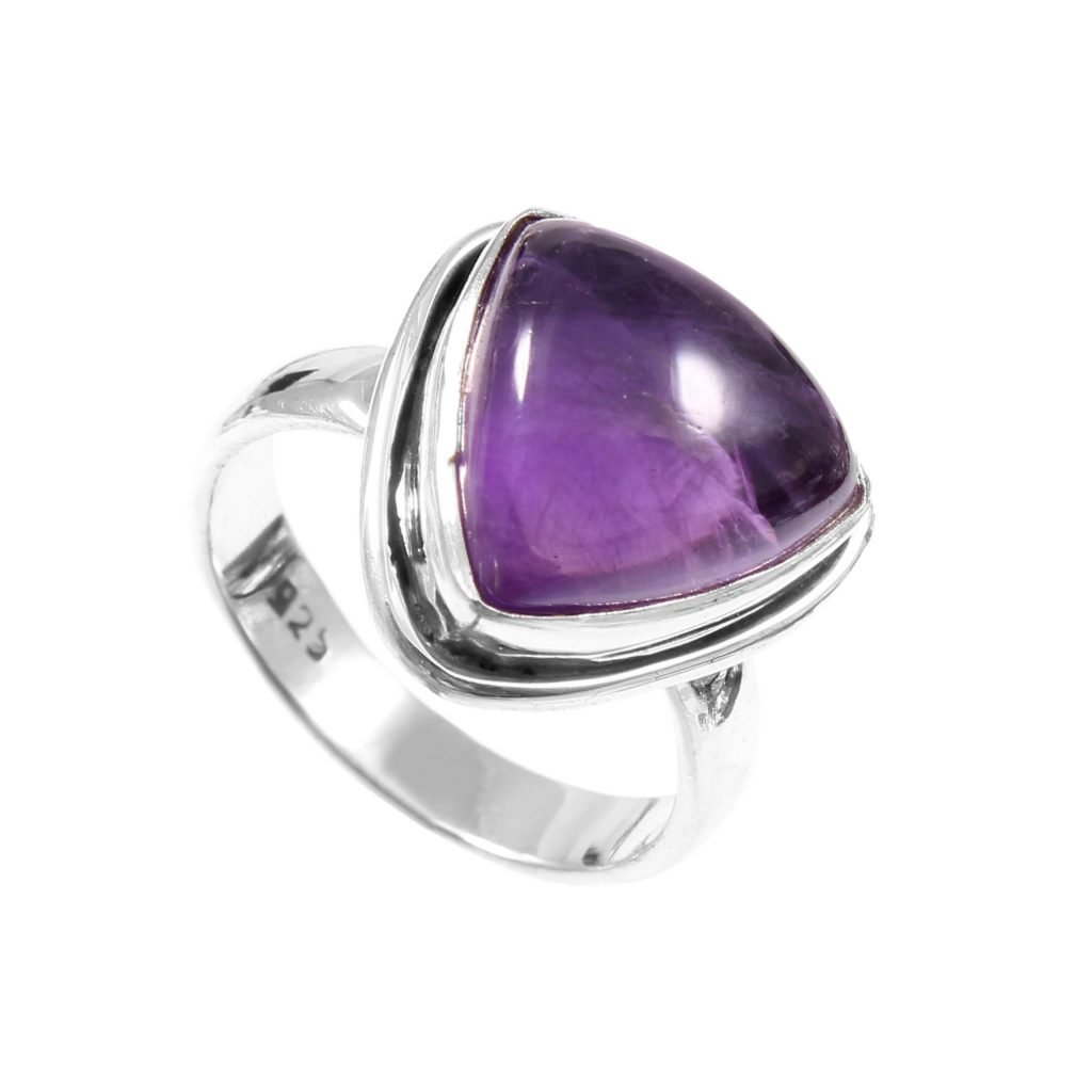 Sterling Silver Amethyst Ring by SMGL